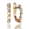 Золотые серьги с куб. цирконием (С1121)