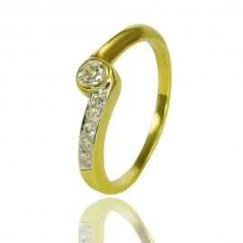 Золотой браслет куб. цирконием (К0376)
