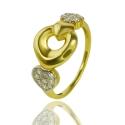 Золотое кольцо с куб. цирконием (К0539)
