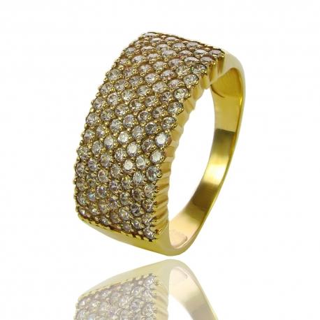 Золотое кольцо с куб. цирконием (К0790)