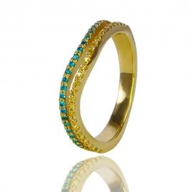 Золотое кольцо с куб. цирконием (К0431)