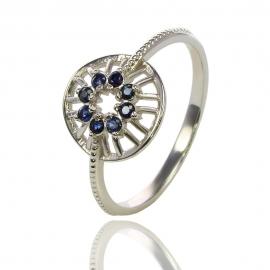 Золотое кольцо с сапфирами (К0844)