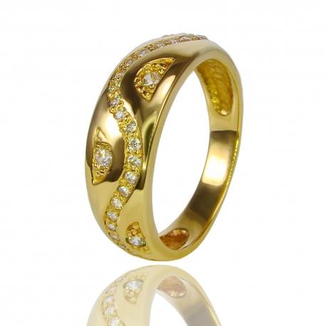 Золотое кольцо с куб. цирконием (К0868)