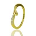 Золотое кольцо с куб. цирконием (К1095)