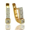 Золотые серьги с куб. цирконием(С0857)