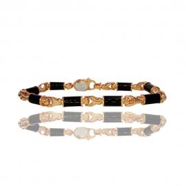 Золотой браслет с ониксом (БТ0177)