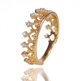 """Золотое кольцо """"Корона"""" (К1344)"""