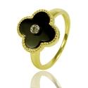 """Золотое кольцо """"Клевер"""" (К0899)"""