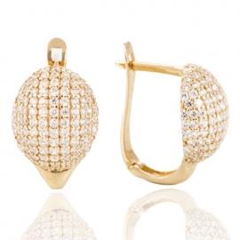Золотые серьги с куб. цирконием (1308)
