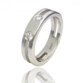 Золотое кольцо с куб. цирконием (К0360)
