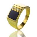 Золотой мужской перстень с ониксом (К0390)
