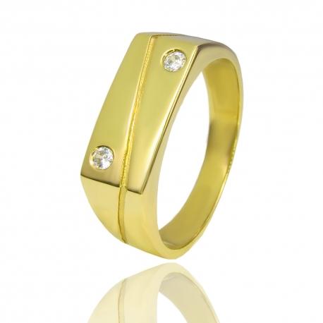 Золотой мужской перстень с ониксом (К0394)