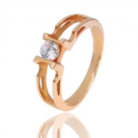Золотое кольцо с куб. цирконием (К0428)