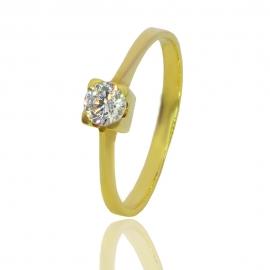 Золотое кольцо с куб.цирконием (К0522)