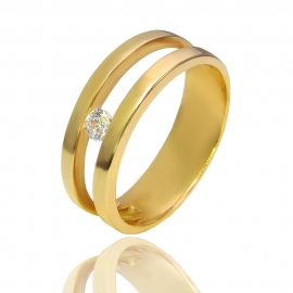 Золотое кольцо с куб. цирконием (К0839)