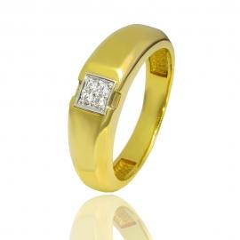Золотое кольцо с куб. цирконием (К0882)
