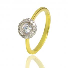Золотое кольцо с куб. цирконием (К0997)