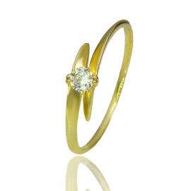 Золотое кольцо с куб. цирконием (К1008)