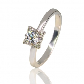 Золотое кольцо с куб. цирконием (К1088)