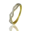 Золотое кольцо с куб. цирконием (К1277)