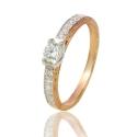 Золотое кольцо с куб. цирконием (К1345)