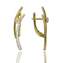 Золотые серьги с куб. цирконием (С0843)