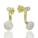 Золотые серьги с куб. цирконием (С1001)