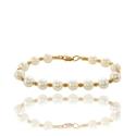 Золотой браслет с жемчугом (БТ0133)