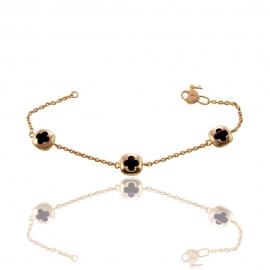 Золотой браслет с ониксом (БТ0264)