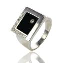 Золотой перстень с ониксом (К0425)