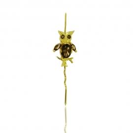 Золотая булавка с кварцем (З0218)