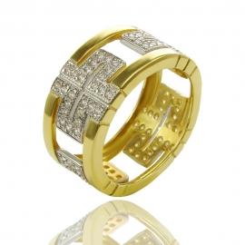 Золотое кольцо с куб. цирконием (К0204)