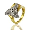 Золотое кольцо с куб. цирконием (К0490)