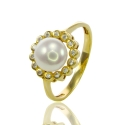 Золотое кольцо с жемчугом (К0526)