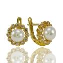 Золотые серьги с жемчугом (С0465)