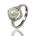 Золотое кольцо с жемчугом (К0546)