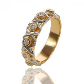 Золотое кольцо с куб. цирконием (К0687)