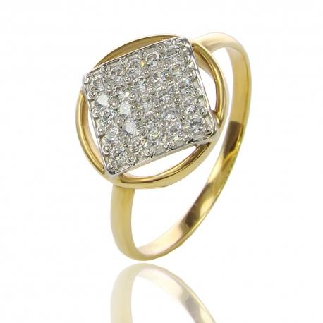 Золотое кольцо с куб. цирконием (К0694)