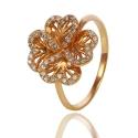 Золотое кольцо с куб. цирконием (К0854)