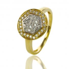 Золотое кольцо с куб. цирконием (К0894)