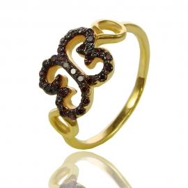 Золотое кольцо с шпинелью (К0958)