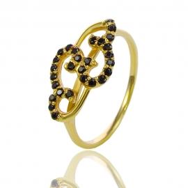 Золотое кольцо с шпинелью (К0932)