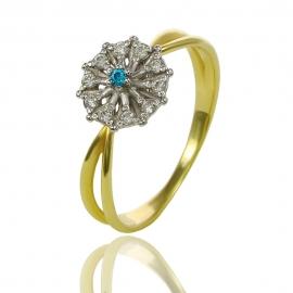 Золотое кольцо с куб. цирконием (К0973)