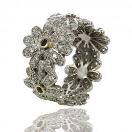 Золотое кольцо с сапфиром (К0992)