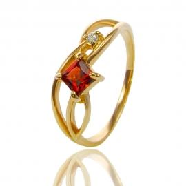 Золотое кольцо с гранатом (К1141)