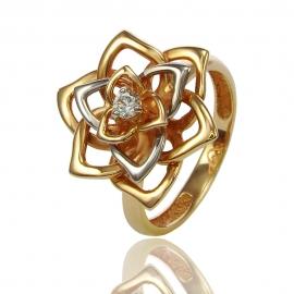 Золотое кольцо с куб. цирконием (К1179)