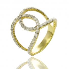 Золотое кольцо с куб. цирконием (К1332)
