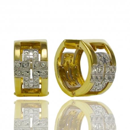 Золотые серьги с куб. цирконием (С0211)