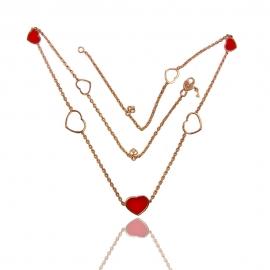 Золотое колье с эмалью (КЛ0197)