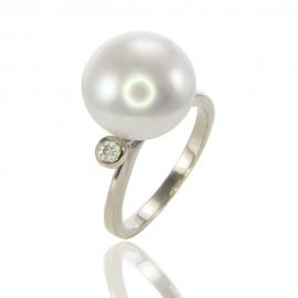 Золотое кольцо с жемчугом (К0540)